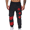 povoljno Chinos-Muškarci Aktivan Dnevno Sportske hlače Hlače - Jednobojni Crn Sive boje Svijetlosiva L XL XXL