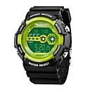 رخيصةأون ساعات الرجال-SANDA رجالي ساعة رياضية ساعة رقمية ياباني رقمي سيليكون أسود 30 m مقاوم للماء رزنامه بارد وورد / العبارة رقمي ترف موضة - أحمر أخضر أزرق / ساعة التوقف / قضية