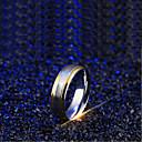 رخيصةأون ساعات الرجال-رجالي عصابة الفرقة 1PC فضي الصلب التيتانيوم Line Shape بسيط زفاف مناسب للبس اليومي مجوهرات لونين مزدوج البرمة موجة كوول