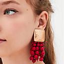 povoljno Komplet nakita-Žene Viseće naušnice Šupalj Tikva dame Boemski stil pomodan Moda hammered Naušnice Jewelry Plava / Pink / Svijetlo zelena Za Vjenčanje Dnevno 1 par