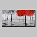 economico Pittura-Hang-Dipinto ad olio Dipinta a mano - Paesaggi Floreale / Botanical Modern Senza telaio interno / Tela arrotolata