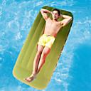 olcso Kemping bútorok-Felfújható matracok Külső Vízálló Hordozható Púdertartó Pehely 190*76*22 cm Tengerpart Kemping Utazás Minden évszak Zöld