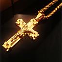 povoljno Ogrlice-Žene Ogrlice s privjeskom Sa stilom Debeli lanac Kereszt križ sa razapetim Isusem Statement dame Moda Hip-hop Legura Zlato 46 cm Ogrlice Jewelry 1pc Za Klub Jabuka