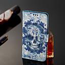 رخيصةأون حافظات / جرابات هواتف جالكسي J-غطاء من أجل Samsung Galaxy J8 / J7 Duo / J2 PRO 2018 محفظة / حامل البطاقات / قلب غطاء كامل للجسم جماجم قاسي جلد PU