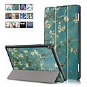 رخيصةأون Lenovo أغطية / كفرات-غطاء من أجل Lenovo Lenovo Tab 4 10 Plus / Lenovo Tab 4 10 مع حامل / مغناطيس غطاء كامل للجسم رسم زيتي قاسي جلد PU