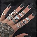 ieftine Bijuterii de Corp-Pentru femei Band Ring Set de inele Inele Midi 13pcs Auriu Argintiu Ștras Aliaj Circle Shape Geometric Shape femei Neobijnuit Design Unic Zilnic Stradă Bijuterii Stil Vintage Creative Cool