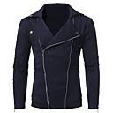 povoljno odijela-Muškarci Osnovni Veći konfekcijski brojevi Slim Hlače - Jednobojni Crn / Dugih rukava / Jesen / Zima