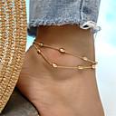 ieftine Măsurători & Cântare de Bucătărie-Pentru femei Bijuterii de corp 21 cm Brățară Gleznă / gleznă brățară / picioare bijuterii Auriu / Argintiu Oval femei / Simplu / Boem Aliaj Costum de bijuterii Pentru Concediu / Ieșire Vară