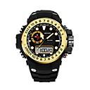 رخيصةأون ساعات الرجال-SANDA رجالي ساعة رياضية ساعة رقمية ياباني رقمي مطاط أسود 30 m مقاوم للماء رزنامه تصميم جديد تناظري-رقمي ترف موضة - أحمر أزرق ذهبي / ساعة التوقف / قضية