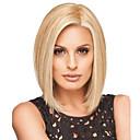 ieftine Peruci & Extensii de Păr-Peruci Sintetice Drept Tunsoare bob Partea laterală Perucă Blond Mediu Blond Păr Sintetic 12 inch Pentru femei Perucă Americană Africană Blond