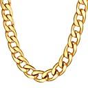 povoljno Muški satovi-Muškarci Lančići Debeli lanac Mariner Chain Hiperbola Moda Dubai Hip Hop Tikovina Crn Zlato Srebro 55 cm Ogrlice Jewelry 1pc Za Dar Dnevno