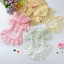 povoljno Maske/futrole za Galaxy S seriju-Psi Mačke Haljine Odjeća za psa Svijetlo zelena Bijela Pink Kostim Šifon Srce Mašna Cvijet Haljine i suknje Simple Style S M L
