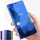 رخيصةأون أساور ساعات لهواتف سامسونج-غطاء من أجل Samsung Galaxy Note 9 / Note 8 / Note 5 مع حامل / مرآة / قلب غطاء كامل للجسم لون سادة قاسي الكمبيوتر الشخصي