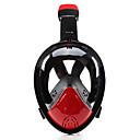 povoljno Ukrasne naljepnice-Ronjenje Maske Maske za cijelo lice Jedan prozor - Plivanje Silikon - Za Odrasli Crn / 180 stupnjeva / Bez curenja / Anti-Magla
