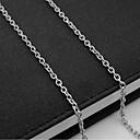 ieftine Coliere-Bărbați Lănțișoare Șuviță unică Mariner Chain European Oțel titan Argintiu 55 cm Coliere Bijuterii 1 buc Pentru Zilnic