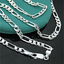 cheap Men's Necklaces-Women's Chain Necklace Stylish Creative Ladies Punk Lolita Hyperbole Fashion Copper Silver 46 cm Necklace Jewelry 1pc For Club Bar