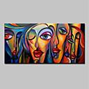 povoljno Zidni ukrasi-Hang oslikana uljanim bojama Ručno oslikana - Ljudi Pop art Moderna Bez unutrašnje Frame / Valjani platno