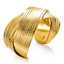 رخيصةأون أساور-نسائي أساور أساور اصفاد أشكال النحت سيدات عرقي مطلية بالذهب مجوهرات سوار ذهبي من أجل مناسب للحفلات هدية
