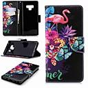 voordelige Galaxy A8 Hoesjes / covers-hoesje Voor Samsung Galaxy Note 9 / Note 8 Portemonnee / Kaarthouder / met standaard Volledig hoesje Flamingo Hard PU-nahka