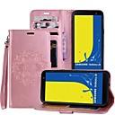 رخيصةأون ساعات النساء-غطاء من أجل Samsung Galaxy J6 / J4 حامل البطاقات / مع حامل / قلب غطاء كامل للجسم ماندالا نمط قاسي جلد PU