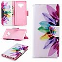 voordelige Galaxy Note 5 Hoesjes / covers-hoesje Voor Samsung Galaxy Note 5 / Note 4 / Note 3 Portemonnee / Kaarthouder / met standaard Volledig hoesje Bloem Hard PU-nahka