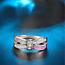 voordelige Galaxy S7 Hoesjes / covers-Dames Statement Ring Verlovingsring Opaal Kubieke Zirkonia 1pc Zilver Koper Verguld Cirkelvorm Dames Artistiek Bohémien Bruiloft Club Sieraden Touw Schattig