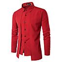 povoljno Men's Winter Coats-Majica Muškarci - Posao / Vintage Dnevno / Rad Jednobojni Crn / Dugih rukava