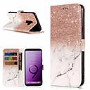 ieftine Bijuterii de Păr-Maska Pentru Samsung Galaxy S9 / S9 Plus / S8 Plus Portofel / Titluar Card / Cu Stand Carcasă Telefon Marmură Greu PU piele