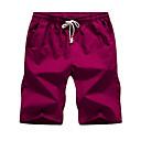 povoljno Kratke hlače-Muškarci Osnovni Dnevno Kratke hlače Hlače - Jednobojni Bijela Lila-roza Žutomrk XXL XXXL XXXXL