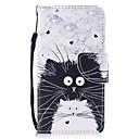 رخيصةأون الستائر-غطاء من أجل Samsung Galaxy J3 (2017) محفظة / حامل البطاقات / قلب غطاء كامل للجسم قطة قاسي جلد PU