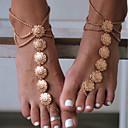 رخيصةأون صنادل حافي القدمين-نسائي Barfotsandaler مجوهرات القدمين وردة سيدات عتيق خلخال مجوهرات ذهبي / فضي من أجل مناسب للبس اليومي فضفاض الرياضة أزياء Cosplay