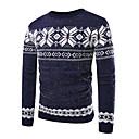 povoljno Naušnice-Muškarci Dnevno Osnovni Color block Dugih rukava Slim Regularna Pullover Džemper od džempera, Okrugli izrez Jesen / Zima Crn / Plava M / L / XL