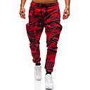povoljno Chinos-Muškarci Osnovni / Ulični šik Chinos / Sportske hlače Hlače - Geometrijski uzorak Kolaž Duga XL XXL XXXL