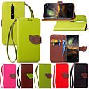رخيصةأون Nokia أغطية / كفرات-غطاء من أجل نوكيا Nokia 8 / Nokia 3.1 / Nokia 2.1 حامل البطاقات / مع حامل / قلب غطاء كامل للجسم النباتات قاسي جلد PU