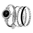 ieftine Seturi de Bijuterii-Pentru femei Ceas Brățară Diamond Watch Quartz Argint / Rose Ceas Casual Analog femei Casual - Argintiu Roz auriu / Alb Negru / Roz auriu