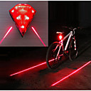 رخيصةأون مصابيح ليد مبتكرة-الليزر LED اضواء الدراجة ضوء الدراجة الخلفي أضواء السلامة دراجة جبلية الدراجة ركوب الدراجة ضد الماء وسائط متعددة سطوع رائع محمول 14500 20 lm قابلة لإعادة الشحن USB أحمر Camping / Hiking / Caving أخضر