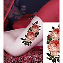 رخيصةأون وشم مؤقت-3 pcs ملصقات الوشم الوشم المؤقت سلسلة الزهور / سلسلة رومانسية صديقة للبيئة / تصميم جديد الفنون الجسم هيكل / ذراع / الصدر / الوشم المؤقت على غرار صائق / ملصق الوشم