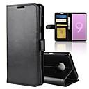 رخيصةأون لعب-غطاء من أجل Samsung Galaxy Note 9 / Note 8 محفظة / حامل البطاقات / قلب غطاء كامل للجسم لون سادة قاسي جلد PU