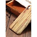 رخيصةأون أغطية أيفون-غطاء من أجل Apple iPhone X / iPhone 8 Plus / iPhone 8 نحيف جداً غطاء خلفي خشب قاسي الكمبيوتر الشخصي