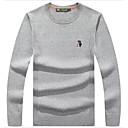 povoljno Muški džemperi i kardigani-Muškarci Dnevno Jednobojni Dugih rukava Regularna Pullover Džemper od džempera, Okrugli izrez Lila-roza / Plava / Navy Plava M / L / XL