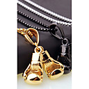 cheap Men's Necklaces-Men's Chain Necklace Charm Necklace Stylish Foxtail chain Boxing Gloves European Casual / Sporty Fashion Steel Stainless Gold Black Silver 45 cm Necklace Jewelry 1pc For Gift Street