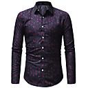 رخيصةأون قمصان رجالي-رجالي أساسي قميص, ألوان متناوبة / كم طويل