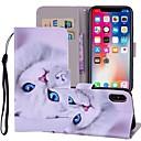 levne iPhone pouzdra-Carcasă Pro Apple iPhone X / iPhone 8 Plus / iPhone 8 Peněženka / Pouzdro na karty / se stojánkem Celý kryt Kočka Pevné PU kůže