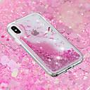 رخيصةأون أغطية أيفون-غطاء من أجل Apple iPhone X / iPhone 8 Plus / iPhone 8 سائل متدفق / شفاف / نموذج غطاء خلفي زهور ناعم TPU