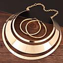 ieftine Seturi de Bijuterii-Pentru femei Cercei Rotunzi Lănțișor Gol Declarație femei Simplu European Elegant cercei Bijuterii Auriu / Argintiu / Golden 2 Pentru Serată