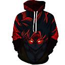 povoljno Muške jakne-Muškarci Veći konfekcijski brojevi Hlače - 3D Red / Okrugli izrez / Dugih rukava / Jesen / Zima