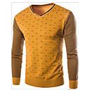 povoljno Zimski modni dodaci-Muškarci Dnevno Osnovni Geometrijski oblici Dugih rukava Regularna Pullover Džemper od džempera, V izrez Jesen Lila-roza / Vojska Green / Bijela M / L / XL