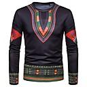povoljno Muške košulje-Majica s rukavima Muškarci - Vintage / Boho Praznik / Izlasci Pamuk Etno Print Crn / Dugih rukava