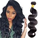 povoljno Ekstenzije za kosu-1 paket Indijska kosa Tijelo Wave Klasika Remy kosa Ljudska kosa Ljudske kose plete Isprepliće ljudske kose Proširenja ljudske kose / 10A