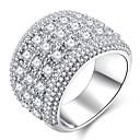 voordelige Galaxy A-serie hoesjes / covers-Dames Ring Micro Pave Ring 1pc Zilver Koper Platina Verguld Gesimuleerde diamant Dames Klassiek Hyperbool Bruiloft Feest Sieraden Stijlvol sterrenstof HALO Ster Gypsophila Schattig